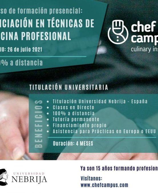 Iniciación en Técnicas de Cocina Profesional a Distancia